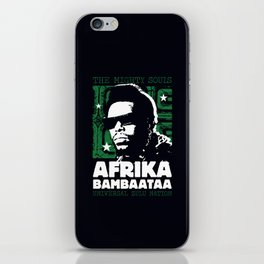 The Mighty Souls: Afrika Bambaataa iPhone Skin