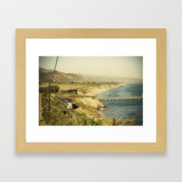 Along the coast Framed Art Print