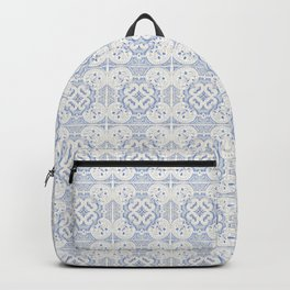 Vintage blue tiles pattern Backpack