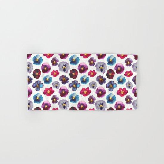 Watercolor violets Hand & Bath Towel