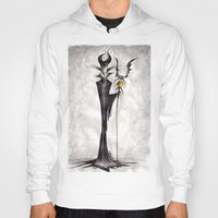 maleficent Hoodies featuring Maleficent by Jena Sinclair