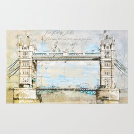 Tower Bridge, London England Rug
