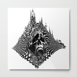 Skull Mountain Metal Print