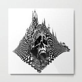 Skull Mountain Metal Print