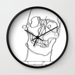 Skeleton Boy Wall Clock