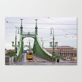 Yellow Tram in Budapest Canvas Print