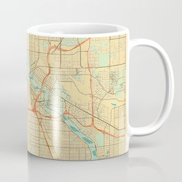 Minneapolis Map Retro Coffee Mug