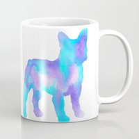 boston terrier Mugs featuring Boston Terrier by AbstractBosties