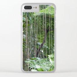 Rainforest umbrella Clear iPhone Case