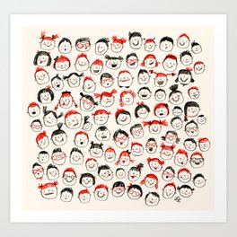 Silly Faces Art Print