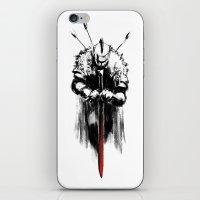 dark souls iPhone & iPod Skins featuring Dark Souls by Marcos Raya Delgado