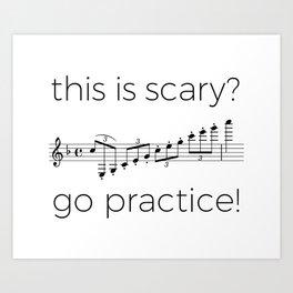 Go practice - clarinet Art Print