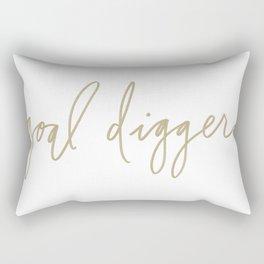 Goal Digger - Gold Print  Rectangular Pillow