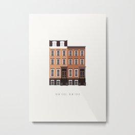 New York City, NYC Brownstone Metal Print