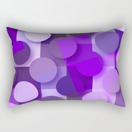 squares & dots violet Rectangular Pillow