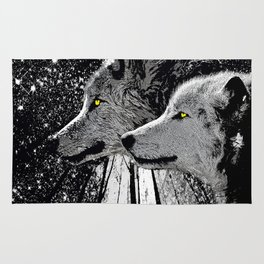 WOLF OF THE NIGHT FOREST Rug
