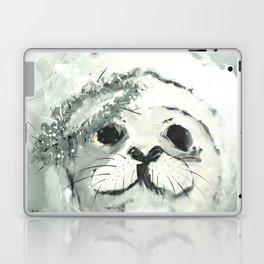 White Seal Laptop & iPad Skin