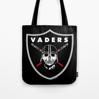 oakland Tote Bags featuring Oakland Vaders by Ant Atomic