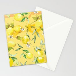 Watercolor lemons 5 Stationery Cards