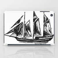 ship iPad Cases featuring Ship by LeahOwen
