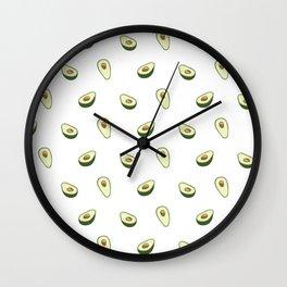 Cute Avocado Pattern Wall Clock