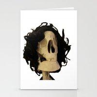skeleton Stationery Cards featuring skeleton by Francesco Mestria