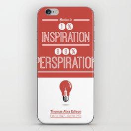 Lab No. 4 - Thomas Alva Edison Quote typography print Inspirational Quotes Poster iPhone Skin