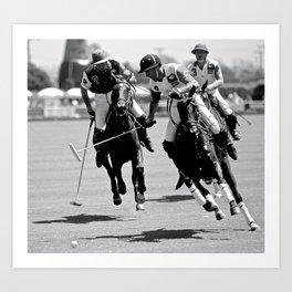 "Horses ""Polo Breakaway"" Art Print"