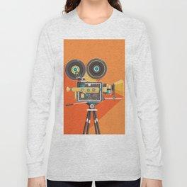 Cine: Orange Long Sleeve T-shirt