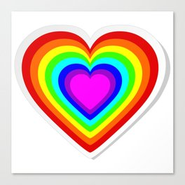 Lbgt rainbow heart Canvas Print