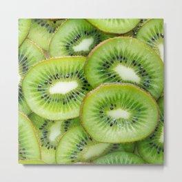 slices kiwi Metal Print