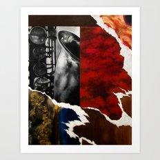 Music Triptych: Saxophone Art Print