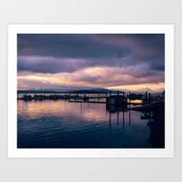 Sunset Bay Art Print