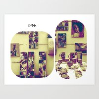 cuba Art Prints featuring cuba by whoù?