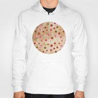 polka dots Hoodies featuring Polka Dot Pattern 04 by Aloke Design