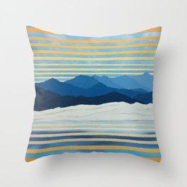 Twilight at Mono Lake - Landscape with Mountains Throw Pillow