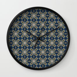 Luxury Spanish Tile - Pattern Wall Clock