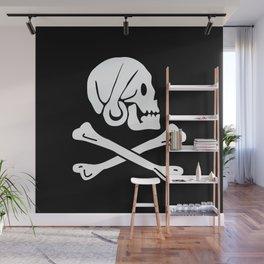 Henry Every Pirate Flag - Jolly Roger Skull Wall Mural