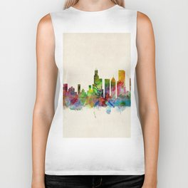 Chicago City Skyline Biker Tank