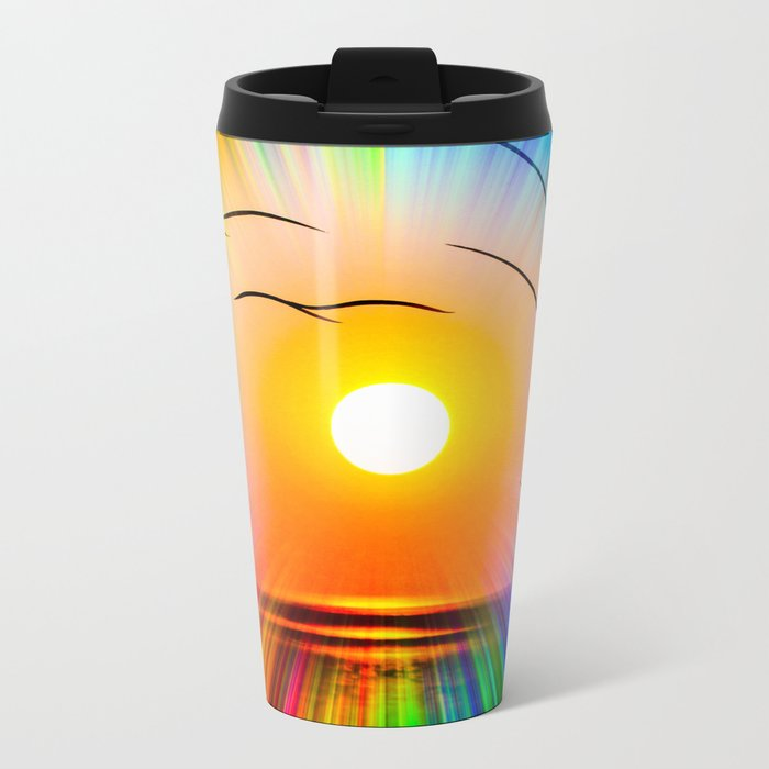 Sunset abstract Metal Travel Mug