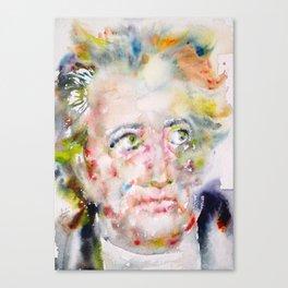 JOHANN WOLFGANG VON GOETHE - watercolor portrait Canvas Print