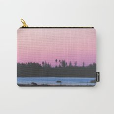Pink skies over the lake Carry-All Pouch