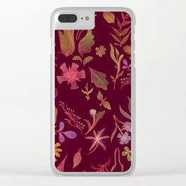 Sunset Flora Clear iPhone Case