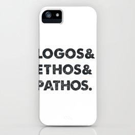 Vintage Philosophy Logos Ethos Pathos Nietzsche Kant iPhone Case