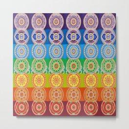SEVEN CHAKRA SYMBOLS OF HEALING ART Metal Print