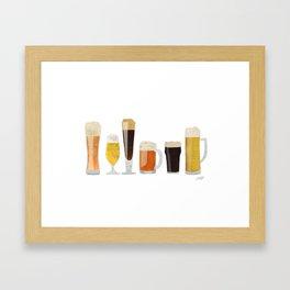 Beer Mugs Framed Art Print