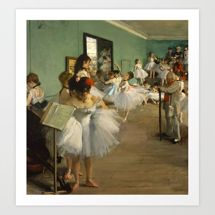 Degas - The Dance Class, 1874 Art Print