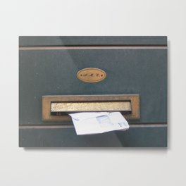 Mailbox No. 3 in Venice, Italy (2009) Metal Print