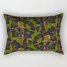 geo snakes Rectangular Pillow