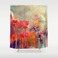 takmaj Shower Curtains featuring Allium by takmaj
